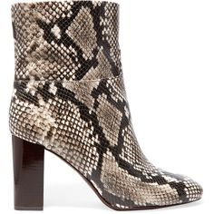 0311c1dbc45b Tory Burch Devon snake-effect leather ankle boots (€255) ❤ liked on