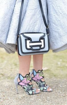 Pierre Hardy bag and shoes at Paris Fashion Week