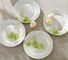 Hilltop Garden Salad Plate, Set of 4 #potterybarn