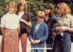 diana with her siblings and a friend
