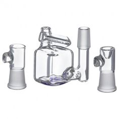 Hamm's Waterworks Glass – Tiny Cube Vapor Bubbler with Exo-Diffy Perc – Purple - http://potterest.com/pin/hamms-waterworks-glass-tiny-cube-vapor-bubbler-with-exo-diffy-perc-purple/