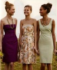 Ideas for bridesmaids. Who said they all have to match?