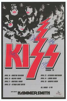 KISS POSTER 1975