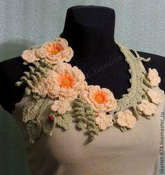 Fast Crochet, Easy Crochet Hat, Freeform Crochet, Irish Crochet, Crochet Shawl, Crochet Scarves, Crochet Jewelry Patterns, Crochet Flower Patterns, Crochet Accessories