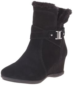 Anne Klein Sport Women's Incaged Suede Winter Boot * Tried it! Love it! Click the image. : Women's winter boots
