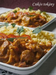 Indian Food Recipes, Real Food Recipes, Cooking Recipes, Healthy Recipes, Hungarian Recipes, Good Foods To Eat, Delicious Dinner Recipes, Pork Dishes, Food 52
