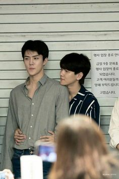 """""Baekhyun: ""Sehun is mine. Baekhyun, Sehun Oh, Exo K, Korean Couple, Exo Couple, Exo Ot12, Chanbaek, Kaisoo, Sing For You"
