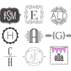 Free monogram fonts from the Blue Dollhouse. I love Bodoni