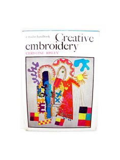 Items similar to 1968 Creative Embroidery, A Studio Handbook by Christine Risley, 96 pages, Hardcover, Black and White on Etsy Craft Books, Book Crafts, Christine Wu, Book Costumes, Popular Crafts, Fabric Pictures, Creative Embroidery, What Is Need, White Embroidery