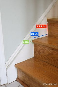 How to Install a Stair Runner - Here's how you calculate the length of your stairs in order to buy the right sized carpet stair runner. - Thrift Diving Staircase Landing, Stairs And Staircase, Staircase Makeover, Carpet Stairs, Staircase Design, Spiral Staircases, Stair Runner Installation, Carpet Installation, How To Make Stairs