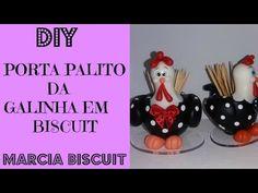 DIY PORTA PALITO DA GALINHA EM BISCUIT BY MARCIA BISCUIT