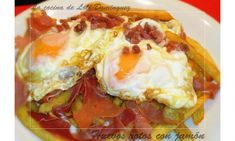 Huevos rotos con jamón.  No hay otro plato tan delicioso y fácil de preparar y creo que le gustara a todo el mundo.  . .  ---------------------- El video en You Tube: http://www.youtube.com/watch?v=kUnwEm6J2j4 ---------------------- Tambien en mi Blog: http://lacocinadelolidominguez.blogspot.com.es/2014/02/huevos-rotos-con-jamon.html -----------------------