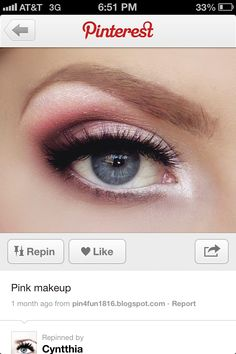 Pink prom make up- instead of pink do purple