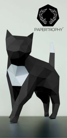 A chic feline decoration for your shelves. #Papertrophy #Papercraft