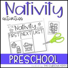 <p>These nativity activities for preschool are a fun way to get some academics in while they learn about the Christmas story! The nativity mini-book is a fun, interactive retelling of the nativity story.</p><p></p><p>Check out the preview to see more pages.</p><p></p><p>This download includes the following:</p><ul><li>Fine motor pre-writing practice pages.</li><li>Letter J maze and answer key</li><li>Nativity story mini-book and memory verse page.</li><li>Sequence the Nativity…