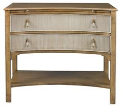 Coco 2-Drawer Concave Nightstand 39w 33h 21d