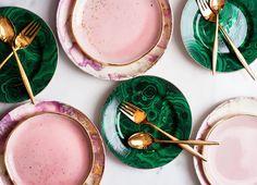 Op onze wishlist: borden met een gouden touch