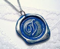 Necklace Ritzy Misfit Wax Seal by RitzyMisfit, $38.00