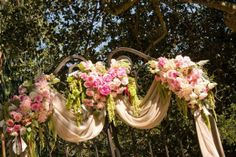 Floral Rose Ceremony Arches I Le Festin Events I #WeddingCeremony