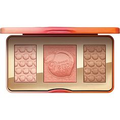 Too Faced Sweet Peach Glow! This illuminating, blushing, and bronzing palette gives the natural radiance of a glowing peach sunset and gives your skin the appearance of being bathed in the most beautiful peachy golden light.