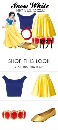 """Snow White"" by mydisneypolyvore ❤ liked on Polyvore featuring WearAll, Philipp Plein, Monet, New Look, Disney, disney, snowwhite and disneybound"