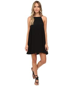 MINKPINK Crepe Apron Neck Swing Dress Black - Zappos.com Free Shipping BOTH Ways