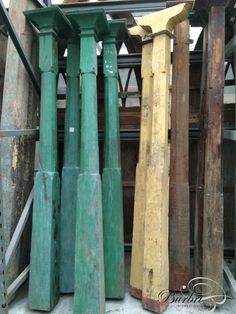Antique hardwood Pilars with old stone - Various building materials - Old building materials - Burbri Reclaimed Building Materials, Old Building, Building Ideas, Rustic Irons, Iron Furniture, Old Stone, Old Doors, Architectural Salvage, Egypt