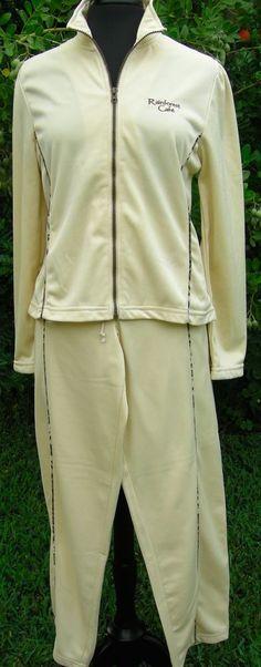 Track Suit Medium Beige Rainforest Cafe Women's Jogging Warm Up Camo Souvenir  #RainforestCafe #TracksuitsSweats