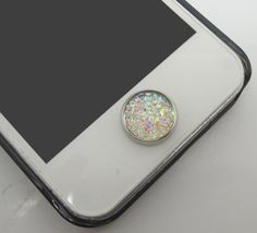 BEST SELLER 1PC Paved Opal Like Crystal Circle Alloy Circle Jewel iPhone Home Button Sticker Charm for iPhone 4,4s,4g,5,5c Cell Phone Charm on Etsy, $53.63