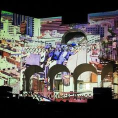 projection done by patricia triki for flux tunis at goethe institute tunis 2015