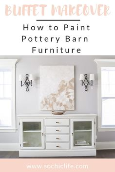 Are you ready to learn how to paint Pottery Barn furniture ? I was skeptical at first, but not only did it turn out better than we expected.