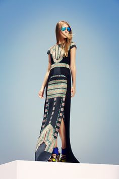 BCBG Max Azria Resort 2013 - Fabulous, easy to wear dresses of all lengths. I may have to invest in each one of the maxi dresses.
