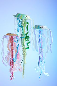 Creative : Eleven Rad Crafty Ideas for Kids  How to Make Your Own Jellyfish at I Scrap, U Scrap