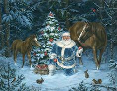 Wonderful winter illustration Elizabeth Goodrick-Dillon.. Sunday, December 21, 2014  LiveInternet
