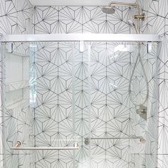 Merola Tile Aster Hex Blanco Encaustic in. Porcelain Floor and Wall Tile sq. / case)-FCDASBX - The Home Depot Artistic Tile, Wall Patterns, Shower Tile Patterns, Bathroom Flooring, Bathroom Wall Tiles, Bathroom Colors, Mid Century Modern Design, Stone Tiles, Mosaic Tiles