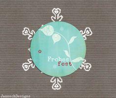 24 St *Frohes Fest *Aufkleber Sticker 40mm von JanoschDesigns auf DaWanda.com