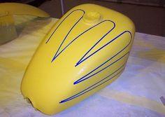 scallop tank paint - Google Search Bicycle Helmet, Bike, Paint Schemes, Paint Ideas, Chopper, Google Search, Painting, Bicycle, Cycling Helmet