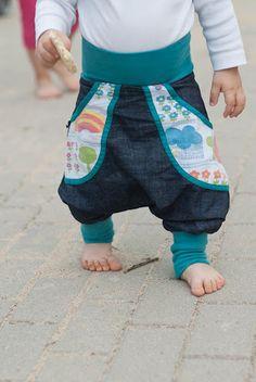 organic cotton denim Pants  sewing & design by Spunkynelda bags: Graziela