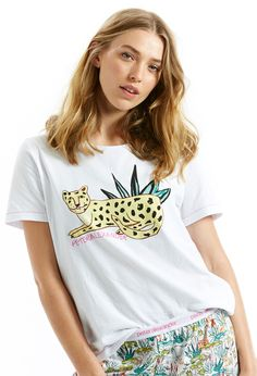 Image for Lazy Leopard Tee from Peter Alexander