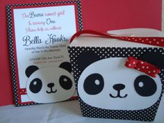 Set of 10 Panda invites. by PaperDreamCre on Etsy, $32.00