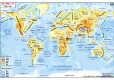 Political Map of the World showing names of all countries with internal boundaries and major water bodies. This digital map of the world file comes in various editable and non-editable printable formats . World Map Latitude, Latitude And Longitude Map, Blank World Map, New World Map, World Geography Map, Peru Map, World Political Map, South Africa Map, Brighton Map