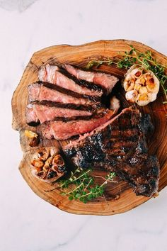 Grilled Ribeye With Soy Butter Glaze, by http://thewoksoflife.com