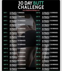 Thirty Day Butt Challenge