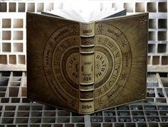 Leather Journal / Blank Magic Book with Tooled Decoration - Wheel of the Year