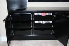 Custom cabinets with video storage
