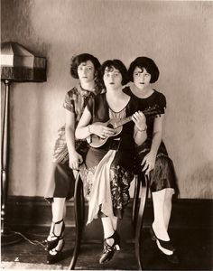 """""""The Boswell Sisters"""" were a popular Jazz vocal group during the 1930's. Martha, Connie, and Vet perfected a mix of rhythm and harmony that would define Jazz vocal groups to come..."""