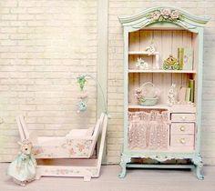 dollhouse nursery furniture by JillDianneArt