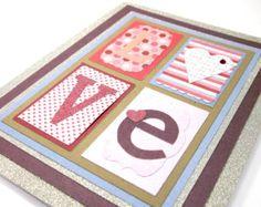 Tarjeta hecha a mano tarjetas de felicitación-Romance por MEInk Handmade Greetings, Greeting Cards Handmade, Romance, Kids Rugs, Valentines, Etsy, Amor, Handmade Cards, Greeting Cards
