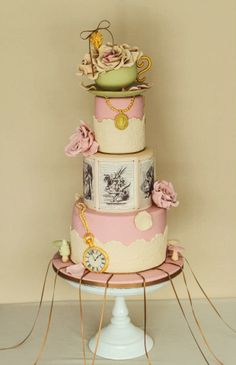 Alice in Wonderland Wedding Cake by Alma Pasteles
