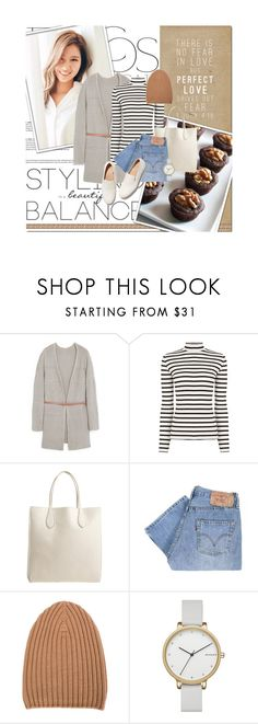 """""""beautiful balance"""" by lifestyle-ala-grace ❤ liked on Polyvore featuring MANGO, Oasis, Rochas, Levi's, Barrie, FEIT and Skagen"""